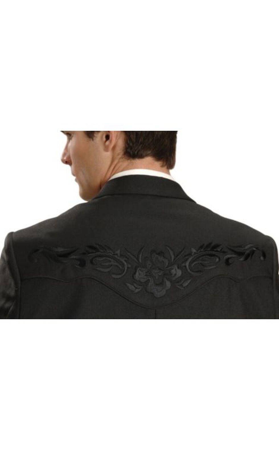 Scully Men's Floral Yoke Blazer - Big and Tall Sizes (50T - 54T), Black, hi-res