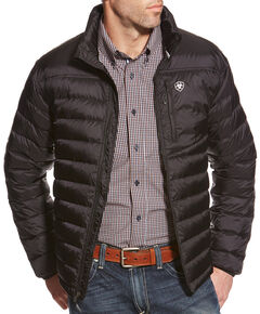 Ariat Men's Jet Black Ideal Down Jacket , Black, hi-res