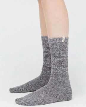 UGG Women's Grey Rib Knit Slouch Socks , Grey, hi-res