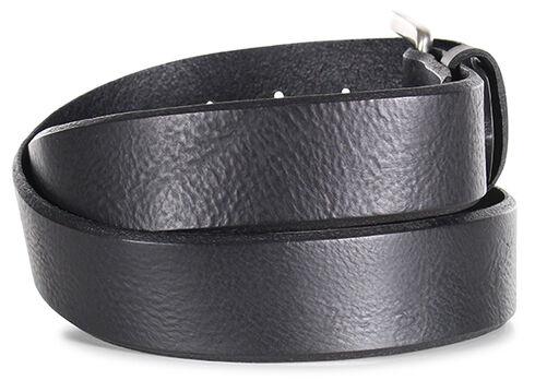 American Worker Men's Black Distressed Leather Belt, Black, hi-res