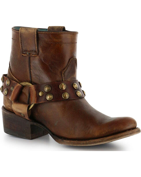Corral Women's Ankle Harness Fashion Boots, Tan, hi-res