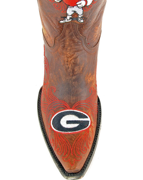 Gameday University of Georgia Cowgirl Boots - Snip Toe, Brass, hi-res
