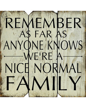 BB Ranch Nice Normal Family Wooden Sign, No Color, hi-res