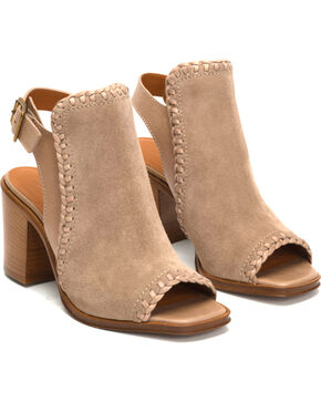 Frye Women's Ash Suede Charlize Shield Dress Booties, Ash, hi-res
