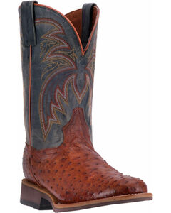 Dan Post Men's Cognac Luke Boots - Round Toe , Cognac, hi-res
