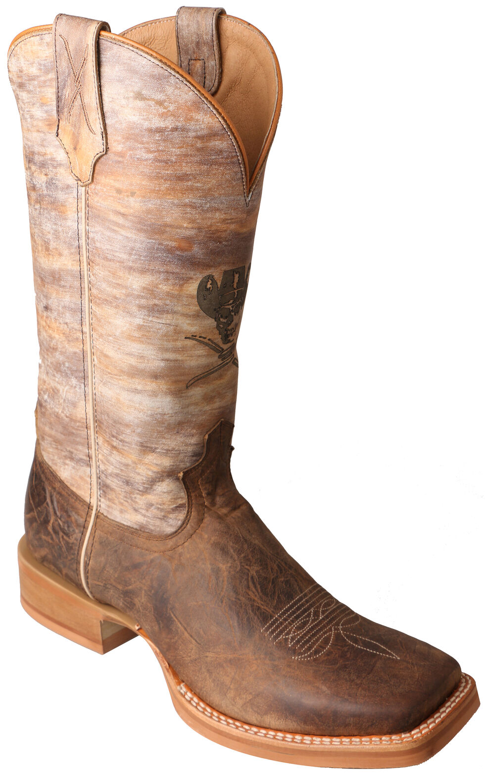 Twisted X Crazy Horse Ruff Stock Cowboy Boots - Square Toe  , , hi-res