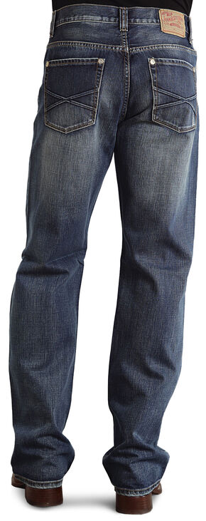 "Stetson Modern Fit Embossed ""X"" Stitched Jeans, Med Wash, hi-res"