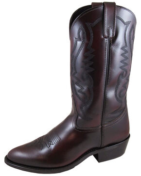 Smoky Mountain Men's Denver Cherry Western Boots - Round Toe, Black, hi-res