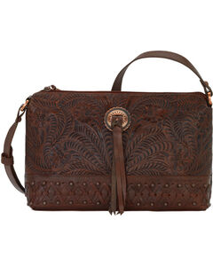 Bandana by American West Women's Dove Canyon Crossbody Bag , Chestnut, hi-res