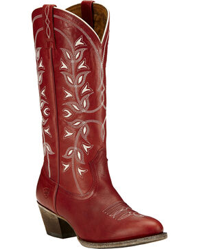 Ariat Desert Holly Rosy Red Cowgirl Boots - Medium Toe, Red, hi-res