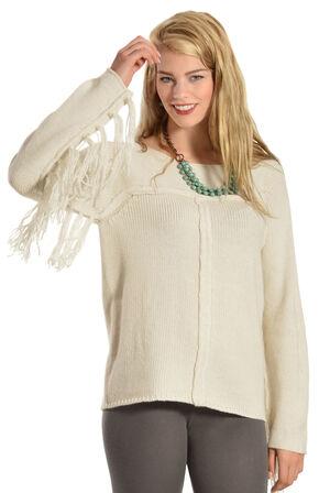 Others Follow Mila Fringe Sleeve Sweater, Cream, hi-res