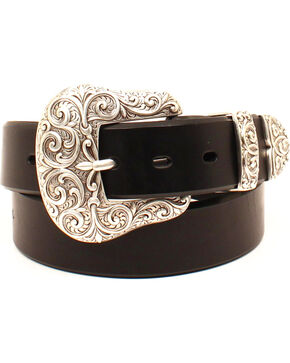 Ariat Women's 3 Piece Buckle Set Western Belt , Black, hi-res