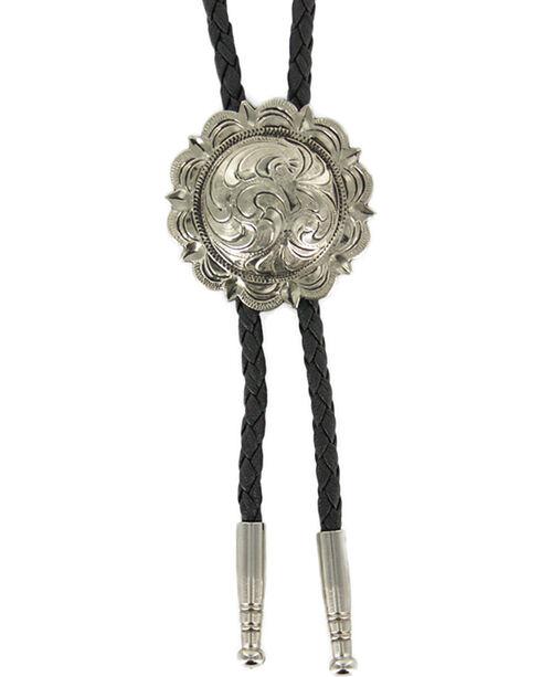 Cody James® Men's Filigree Concho Bolo Tie, Silver, hi-res