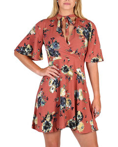 Black Swan Women's Brown Madeline Floral Dress , Brown, hi-res