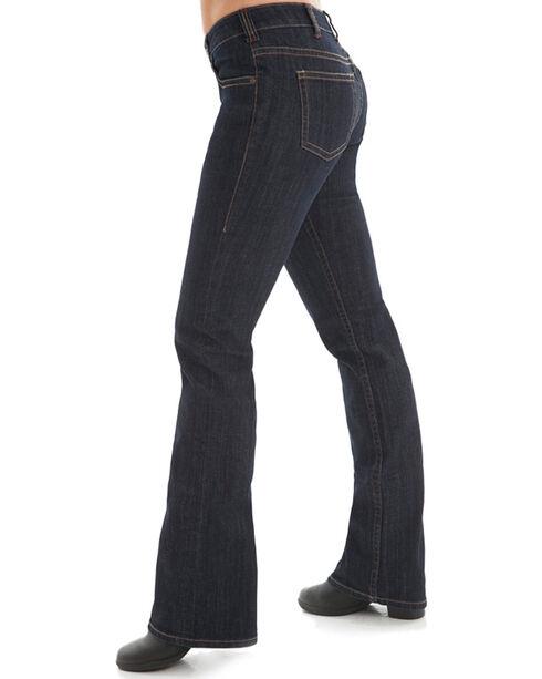 Cowgirl Tuff Women's Dark Wash Boot Cut Jeans , Blue, hi-res