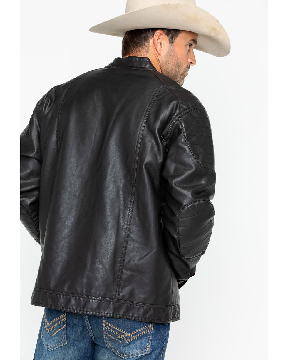 Cody James Men's Devils Bend Faux Leather Jacket, Brown, hi-res