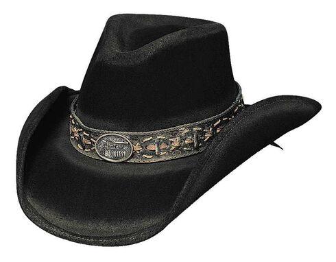 Bullhide Billy The Kid Premium Wool Cowboy Hat, Black, hi-res