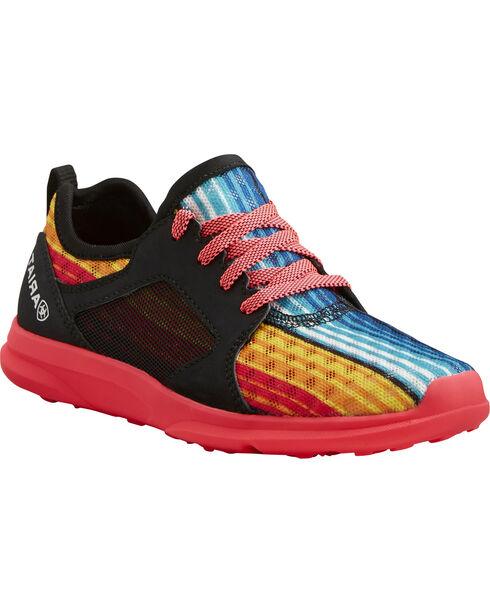 Ariat Kids' Fuse Rainbow Stripe Mesh Shoes , Multi, hi-res