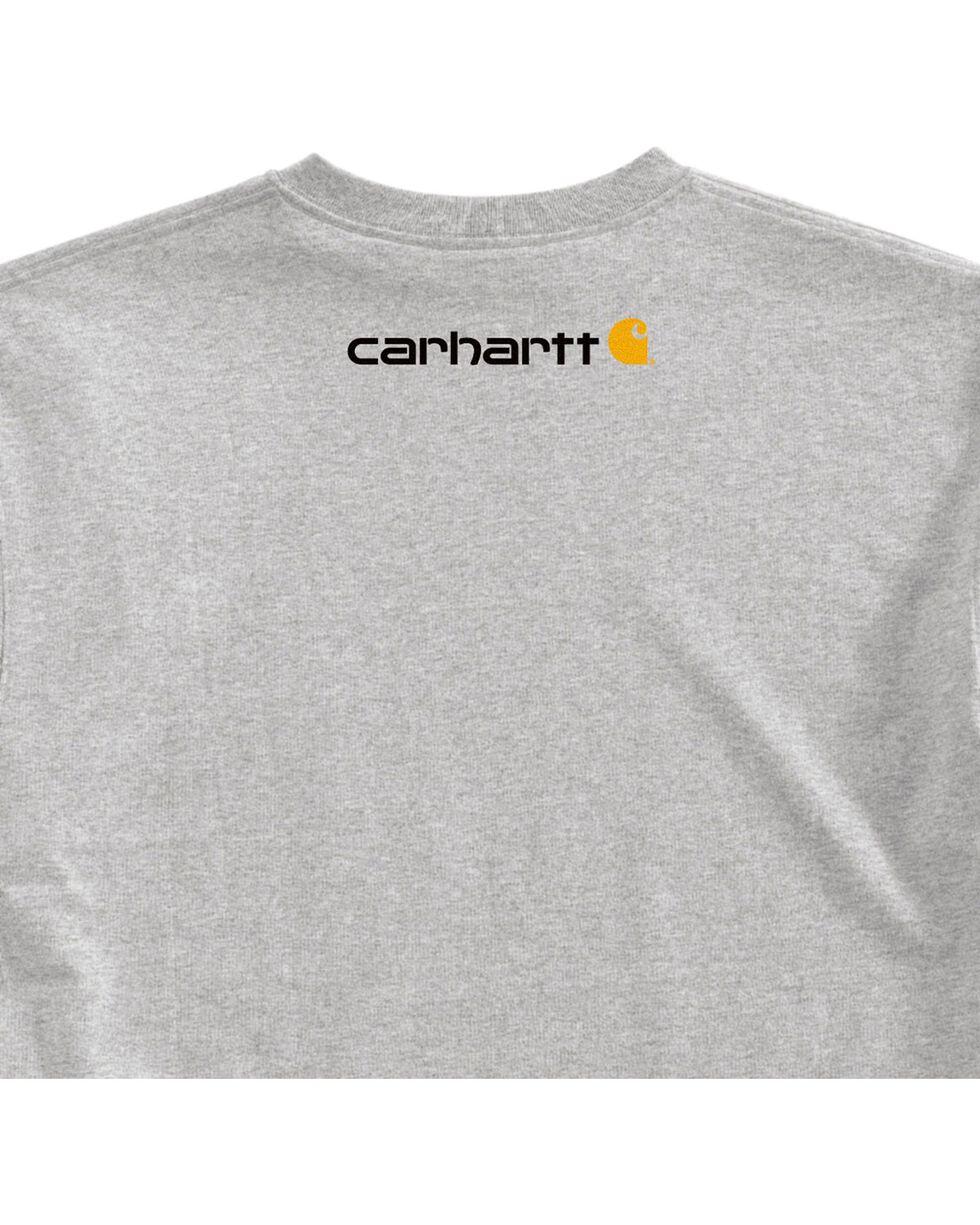 Carhartt Signature Logo Short Sleeve Shirt, Hthr Grey, hi-res