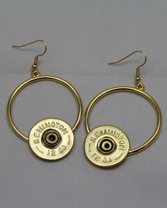SouthLife Supply Women's Florence Circle Shotshell Dangle Earring in Traditional Gold, Gold, hi-res