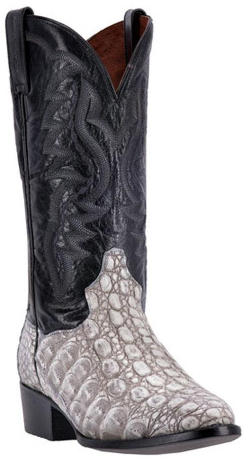 Dan Post Grey and Black Caiman Birmingham Cowboy Boots - Round Toe, , hi-res