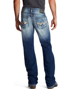 Ariat Men's Indigo M6 Slim Fit Alder Jeans - Boot Cut , Indigo, hi-res