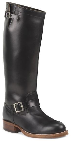 Chippewa Men's 1937 Original Engineer Boots - Round Toe, Black, hi-res