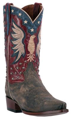 Dan Post Patriotic Bountiful Cowboy Boots - Snip Toe , , hi-res