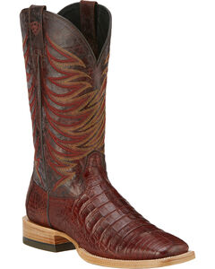 Ariat Fire Catcher Caiman Cowboy Boots - Square Toe, , hi-res