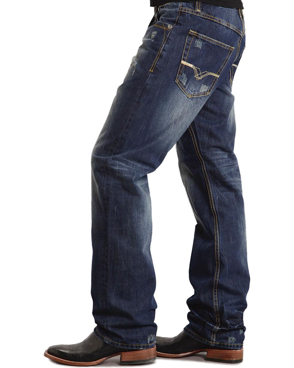 """Stetson 1520 Fit """"V"""" & """"X"""" Stitched Jeans - Big & Tall, Dark Stone, hi-res"""