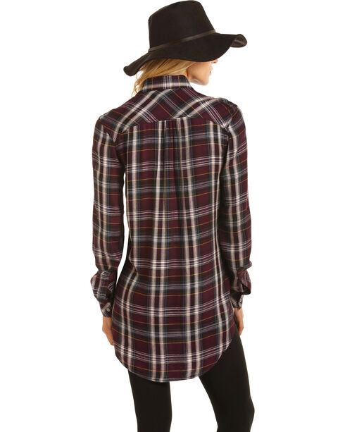 Rock & Roll Cowgirl Women's Brushed Twill Plaid Shirt , Multi, hi-res