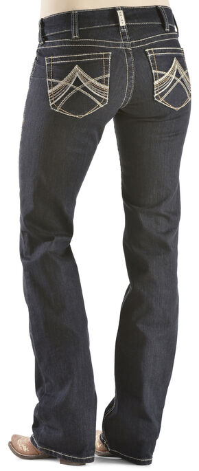 Ariat Women's R.E.A.L. Chainlink Boot Cut Jeans, Denim, hi-res