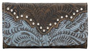 American West Annie's Secret Tri-fold Wallet, Brown, hi-res