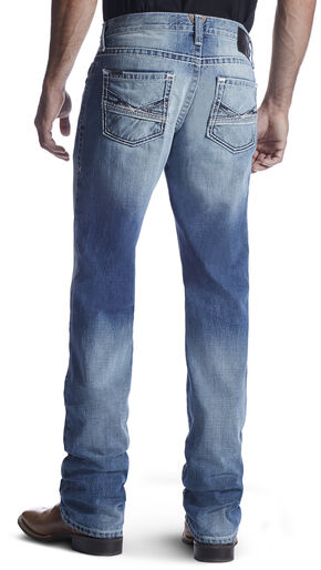 Ariat Men's M5 Lefty Ashwood Straight Leg Jeans, Light Blue, hi-res