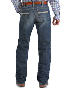 Cinch Men's White Label Relaxed Fit Dark Stonewash Jeans - Boot Cut, Indigo, hi-res