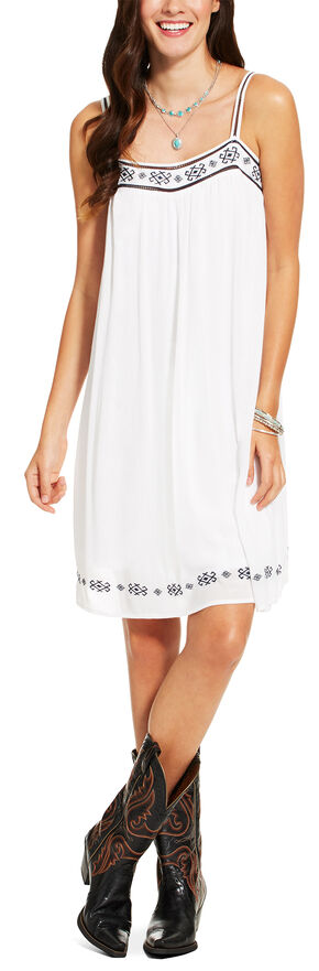 Ariat Women's White Sleeveless Brandy Dress, White, hi-res