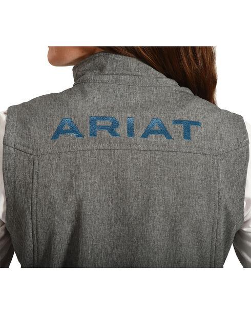 Ariat Women's Team Softshell Vest, Charcoal, hi-res