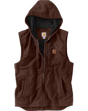 Carharrt Men's Dark Brown Knoxville Vest, Dark Brown, hi-res