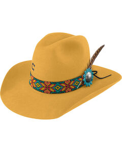 Charlie 1 Horse Women's Yellow Gold Digger 5X Cowgirl hat , Yellow, hi-res