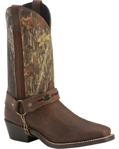 Laredo Mossy Oak Barbed Wire Harness Boots - Square Toe, , hi-res