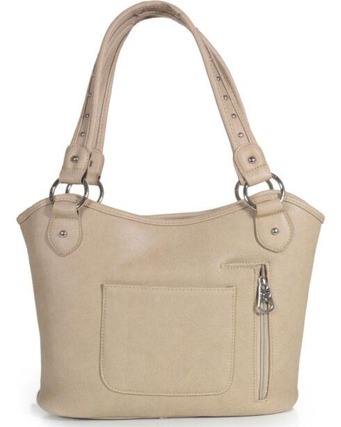 Shyanne Women's Stud Snowflake Handbag, Cream, hi-res