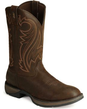 Durango Rebel Cowboy Boots, Chocolate, hi-res