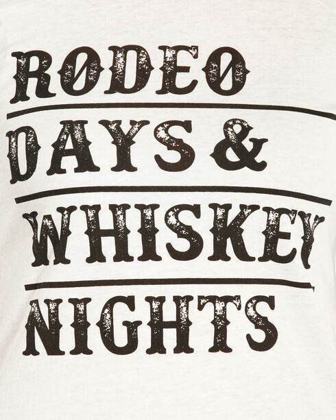 Rock & Roll Cowgirl Women's Rodeo Days Baseball Tee , White, hi-res