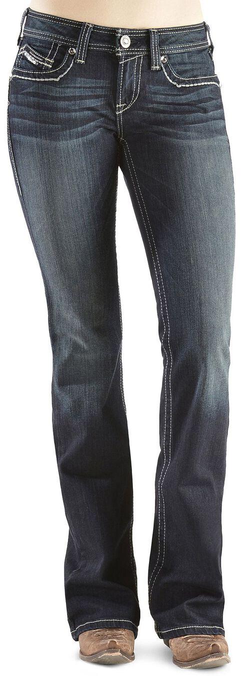 Ariat Turquoise Sequin A Starlight Jeans, Denim, hi-res