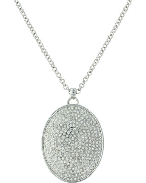 Montana Silversmiths Women's Silver Beyond Shine Pave Necklace , Silver, hi-res