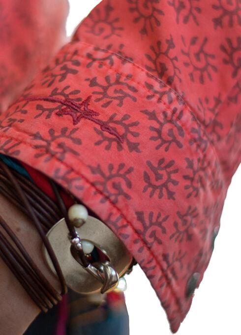 Ryan Michael Women's Savannah Sunburst Print Shirt, Pumpkin, hi-res