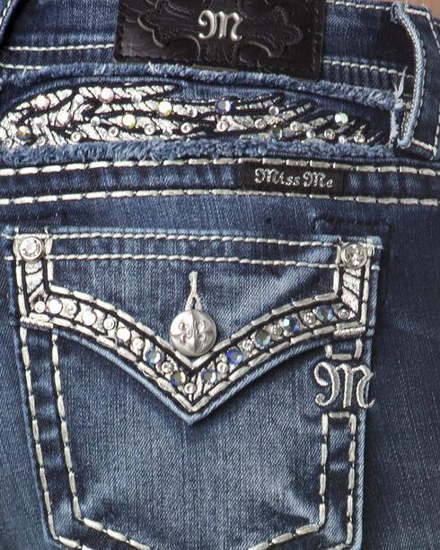 Miss Me Women's Indigo Faux Flap Pocket Jeans - Boot Cut , Indigo, hi-res