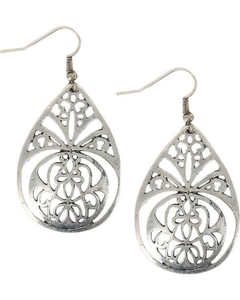 Shyanne Women's Filigree Teardrop Earrings, Silver, hi-res