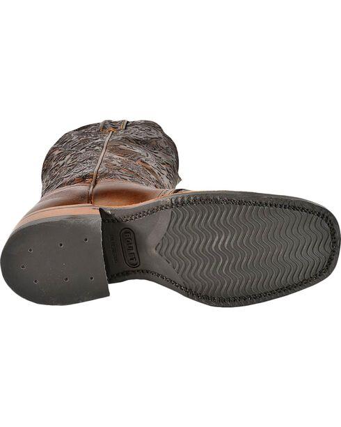 Boulet Hand Tooled Dankan Ranger Cowgirl Boots - Square Toe, Brown, hi-res