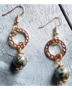 Jewelry Junkie Women's African Turquoise Earrings , Green, hi-res